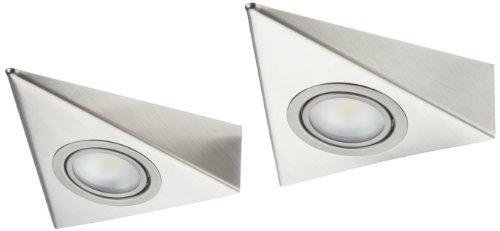 IKM LED Dreieckleuchte Edelstahl 2-er Set (ohne Schalter) 59301221/B