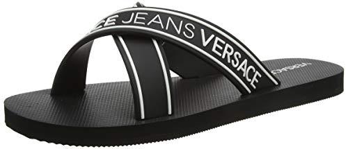 VERSACE JEANS COUTURE Herren Shoes Zehentrenner, Schwarz (899+003 M60), 42 EU