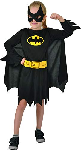 Ciao Mädchen Batgirl Costume Bambina Originale DC Comics (Taglia 5-7 anni) Kostüme, Schwarz, Jahre