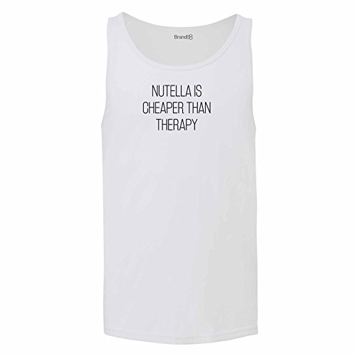 Brand88 - Nutella Is Cheaper Than Therapy, Unisex Jersey Weste Weiß