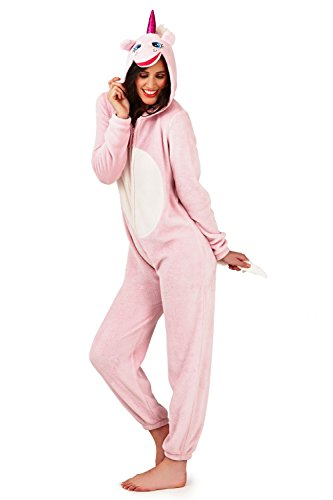 - 31l5njeyZ 2BL - Loungeable Boutique 79666 Unicorn Onesie – Pink Unicorn – X Large