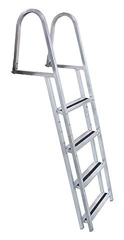 Dock Edge 4-Stufen-Leiter aus mit Dock-Metallic