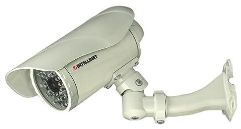 INTELLINET NBC30-IR Outdoor IP Kamera MPEG4 + Motion-JPEG Dual Mode IP67 PoE Audio 300k CMOS Tag/Nacht Progressive-Scan (Mpeg4 Audio)