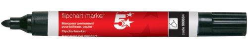 5-star-flipchart-marker-pen-water-based-line-width-20mm-black-pack-of-12