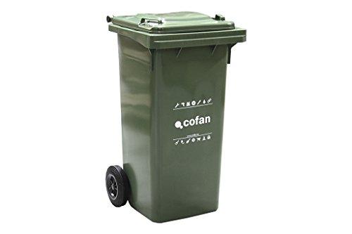 COFAN 21201501 - Conteneur 2 Roues, 55 x 48 x 91 cm, Couleur Vert