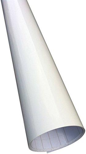 Weiß Glanz Glänzend Car Wrap Autofolie folie 152cm x 30cm (Luftblase frei)