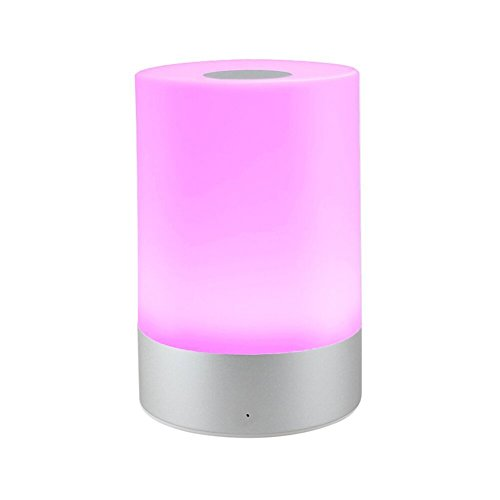 Aiguozer Rechargeable LED Touch Sensor Table Lamp, Night Light Bedside Lamp, Dimmable Warm White and RGB Color Changing Smart Atmosphere Lamp Mood lights