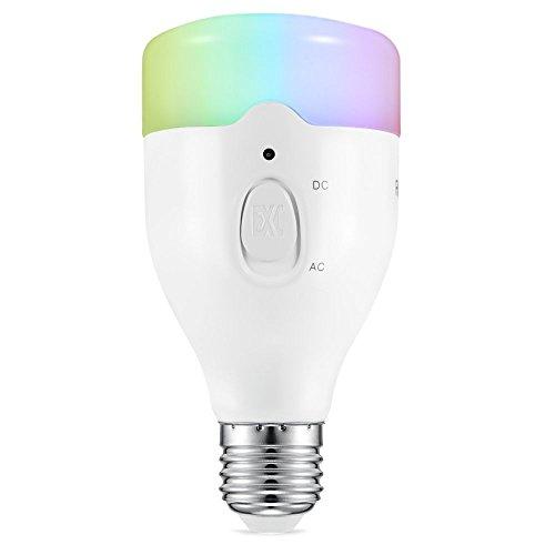 AVANTEK LED E27 Wifi Birne 3 in 1 Stimmungslicht Partylicht, Dimmbar & RGB Farbwechsel, Bühnenbeleuchtung für Kinder, Party, Wedding [Energieklasse A+]