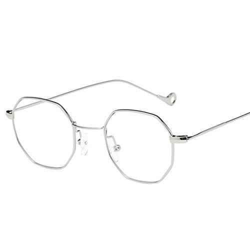 Occhiali da sole da donna uomo polarizzati -beautyjourney occhiali da sole cat eye donna rotondi vintage - vintage sunglasses donna uomo metallo irregolarità occhiali marca classic occhiali alla moda (silver)