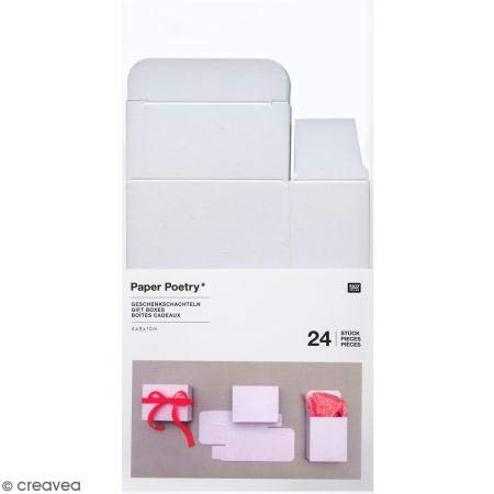 Adventskalender Boxen Weiss, 24 Stück