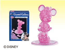 Disney CRYSTAL GALLERY PETIT FRIENDS Minnie Mouse 3D Puzzle (Pink)