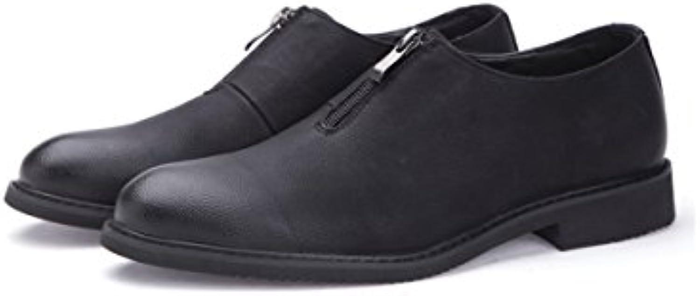 LYZGF La Juventud De Los Hombres De Primavera Y Otoño Zapatos Ocasionales De Moda Casual De Negocios,Black-42