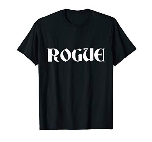 Schurken Shirt Kostüm - Rogue Schurke Lazy Halloween-Kostüm lustig T-Shirt