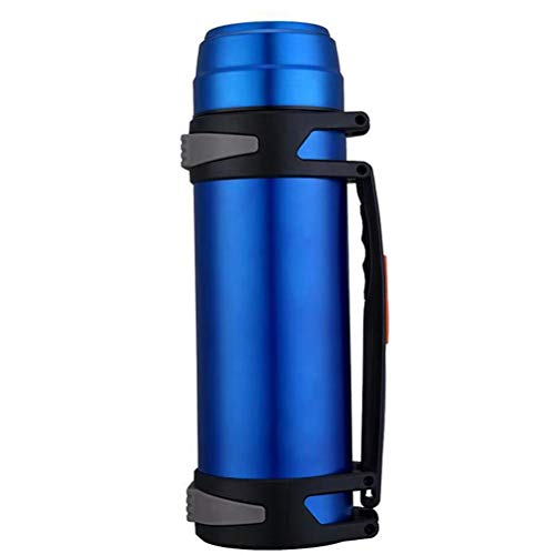 WMWX Taza de Agua portátil portátil para Viaje al Aire Libre para Hombres y Mujeres, Nuevo matraz de vacío de Acero Inoxidable, hervidor de Gran Capacidad 3l,Blue2.0L