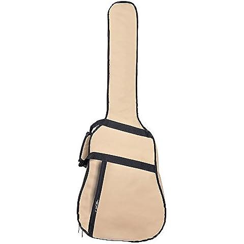 GEEDIAR® 39 inch 600D Bolso de la Guitarra Material de Oxford Impermeable y Resistente Longitud 105cm Caqui