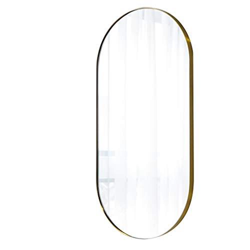 voller Länge Wand Badezimmerspiegel Europäischen Messing Oval Dekorative Spiegel für Wohnzimmer (Size : XS) ()