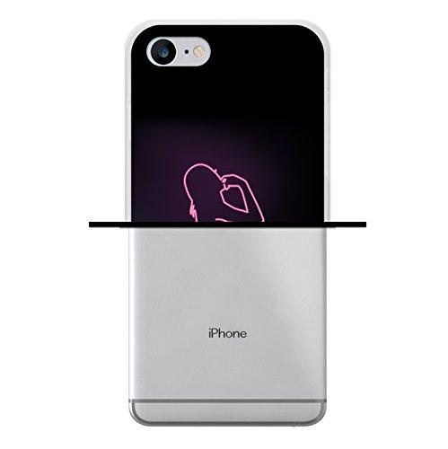 WoowCase Hülle Case für [ iPhone 7 ] Handy Cover Schutzhülle Herzen Housse Gel iPhone 7 Transparent D0280