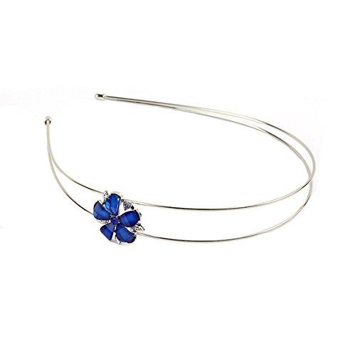 Neu: Haarschmuck Haarreifen Blüte Blau