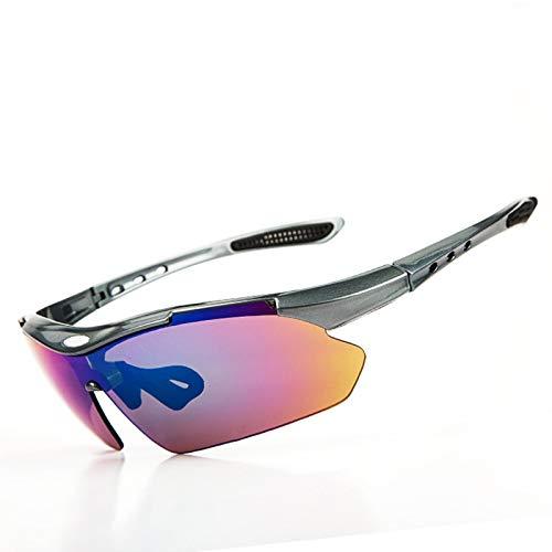 Sportsonnenbrille Fahrrad Sportbrille Mit Wechselgläsern Outdoor Brille Fahrrad Brille Sportgeräte Polarisierte Brille Sonnenbrille Fünf Stück Grey Damen Herren
