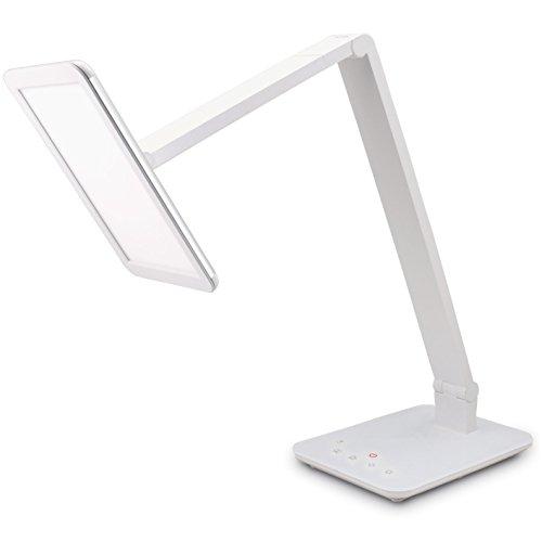 FeinTech LTL00100 LED Schreibtisch-Lampe Lichtfarbe warmweiß bis kaltweiß dimmbar 550 lm weiß - Chrom-metall-schreibtisch-lampe