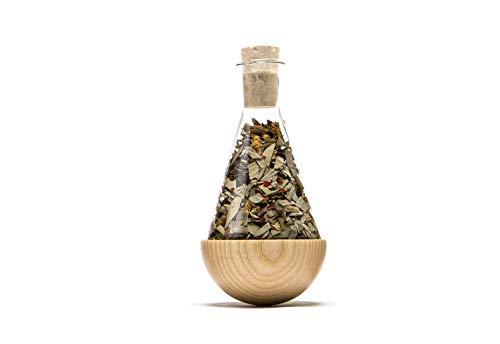 URBANATUREde 'Verres Culbuto – Herbes Flacon, pour thé ou des épices, 1 flacon, véritable bois, volume par flacon 100 ml