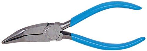 Gebogene, Gezahnte Backen (Wright Werkzeug 9C386Lange Nase Zange gebogen mit gezahnte Backen)