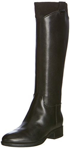 Geox D Felicity F, Stivali da Equitazione Donna, Schwarz (BLACKC9999), 38 EU