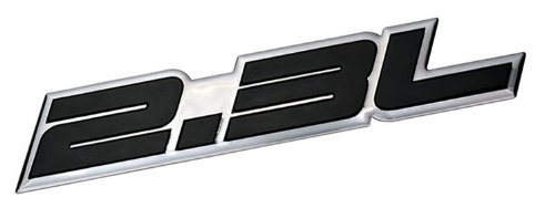 2.3L Liter Embossed BLACK on Highly Polished Silver Real Aluminum Auto Emblem Badge Nameplate for Ford Ranger XL XLT Pinto Mustang II 2 LX Tempo GL Thunderbird Focus ZX4 Escape XLS Hybrid Fusion S SE Chevrolet Beretta Cavalier Dodge Mercury Milan Mariner Hybrid Capri RS Buick Skylark Audi 80 90 100 5000 Quattro Coupe 850 T5 Saab 9-5 Volvo C70 240 GT DL S60 V70 T5 BMW M3 E30 Mercedes Benz 190 200 Series SLK 230 Kompressor C Class Land Rover 2A iia Sedan coupe Wagon 2 3 4 5 2dr 3dr 4dr 5dr door ha