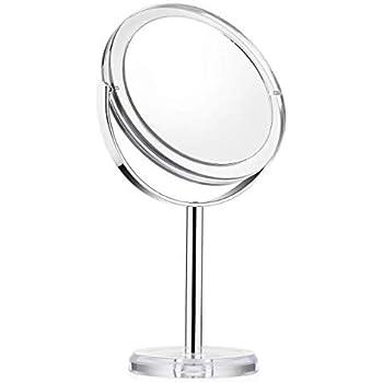 Miroir Grossissement 1X /& 10X Haute D/éfinition Miroir de Table Cheftick Miroir Grossissant Miroir de Vanit/é Double Face Rotation /à 360/°