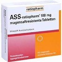 ASS-ratiopharm® 100 mg, magenresistente Tabletten, gut verträglich, Thrombose und Embolieprohylaxe sowie Herzinfarkt... preisvergleich bei billige-tabletten.eu