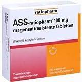 ASS-ratiopharm® 100 mg, magenresistente Tabletten, gut verträglich, Thrombose und Embolieprohylaxe sowie Herzinfarkt- und Schlaganfallprophylaxe, Spar-Set 8 x 100 Tbl.