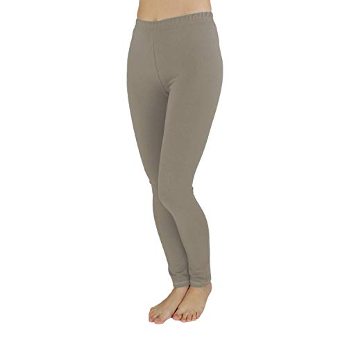 TupTam Mädchen Leggings Lang Blickdicht Baumwolle , Farbe: Cappuccino, Größe: 122