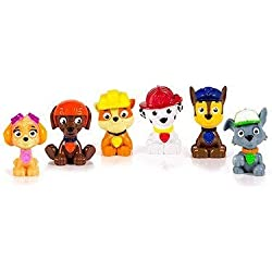 PAW PATROL - Stella, Chase, Marcus, Ruben, Zuma et Rocky - 6 Mini Figurines Pat'Patrouille