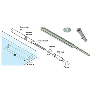 Gas N Pow3r Concealed Shelf Supports Brackets 120mm Floating Hidden Masonary Fix HEAVY DUTY x4
