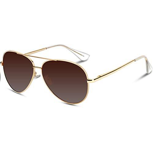 600d3e4546 VVA Gafas de sol Hombre Polarizadas Aviador Hombres Aviador Gafas de sol  Polarizadas Hombre Unisex.