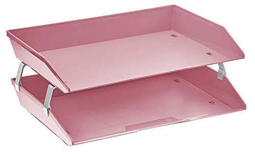 Acrimet Facility Briefablage Doppelt Seitenlast Design (Rosa)