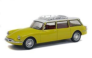Solido S4304400 421436530-1:43 Citroen DS 19 Break - Maqueta de Coche, Color Amarillo y Blanco
