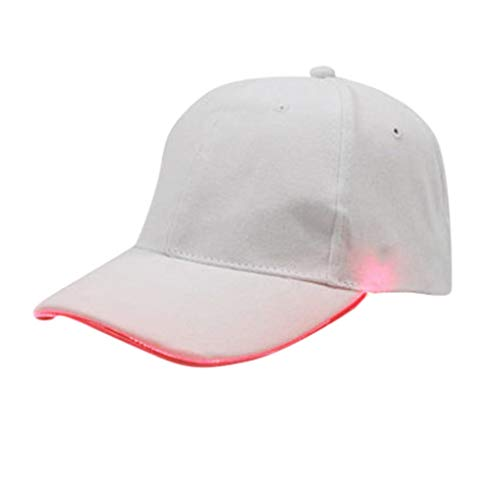 Cappello da Baseball Leggero a LED da Donna da Uomo con Cappuccio Luminoso Viaggi Sportivi Bar Club Cappello di Moda con Cappello a Forma di Cappello da Baseball Leggero a LED Stile Punk