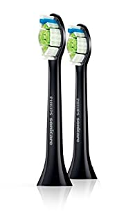 Philips Sonicare Ersatzbürsten Original DiamondClean HX6062/34 für 100 % weißere Zähne - Passen auf jede Philips Sonicare Zahnbürste mit Aufsteck-System - 2er Pack, Standard, Schwarz (B01MY1H334) | Amazon price tracker / tracking, Amazon price history charts, Amazon price watches, Amazon price drop alerts