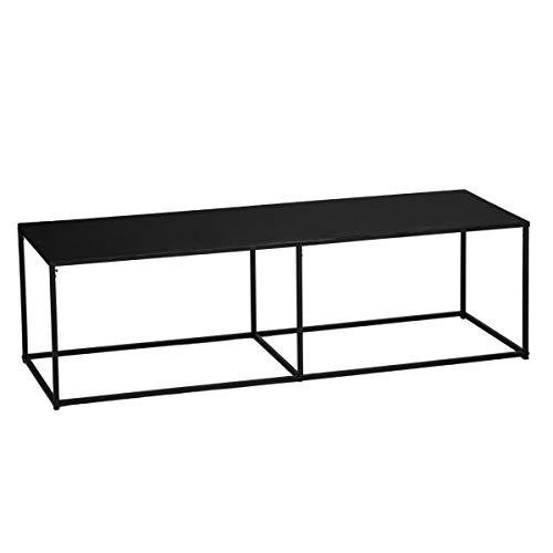Atmosphera Table Basse rectangulaire en métal - Style Industriel - Coloris Noir