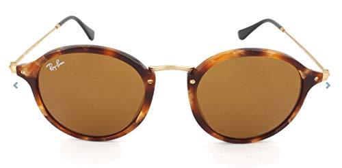 Ray-Ban Unisex Sonnenbrille Rb 2447, Mehrfarbig (Gestell: Havana,Gläser: braun 1160), Medium (Herstellergröße: 49)