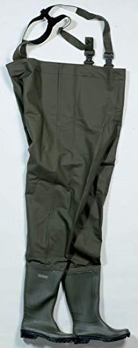 Ocean Wathose BUDGET aus PVC aus Polyestergewebe, 500 gr /m² mit fest angebrachten Gummistiefeln. Größe 37 bis 48 (43)