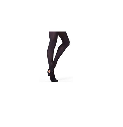 Mytoptrendz® Girl's Convertible Transition Foot Ballet Dance Tights -Black- 9-11 Years