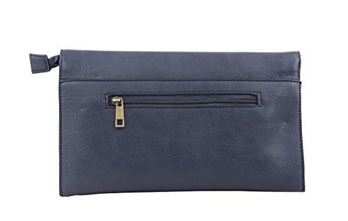 Donna colore singolo portafoglio in pelle morbida con porta carte di credito Coin Purse-Pochette Brown