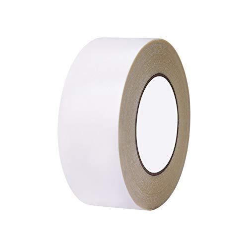 Teppichband 5cm x 25m Doppelseitiges Verlegeband Heavy Duty Anti-Rutsch Abnehmbare kein Rückstand Teppichklebeband für Teppiche Matten Pads Innenbereich Hartholz Fliesen Laminat