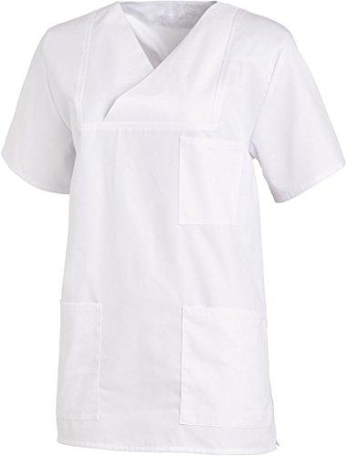 AKOR Textil OP-Kasack Schlupfjacke Schlupfkasack Pflegerkasack (II, weiß)