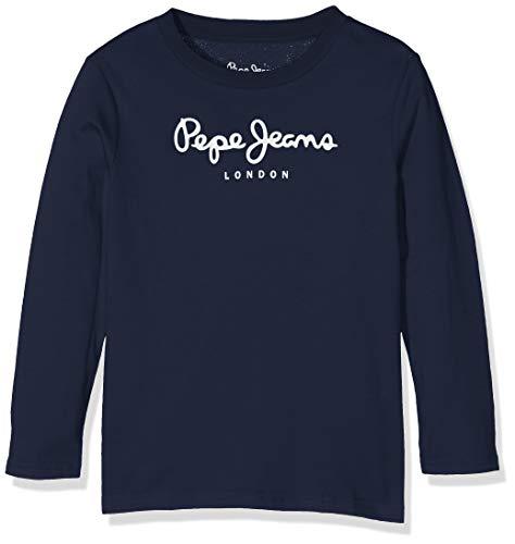 Pepe Jeans Jungen New Herman Jr T-Shirt, Blau (Navy 595), 11-12 Jahre (Herstellergröße: 12) - Jeans-jungen-shirt