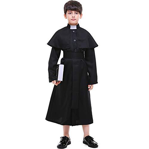 LOLANTA Jungen Priesterkostüm Gotisches Priesterkostüm aus dem Mittelalter (122/128 (6-7 Jahre))