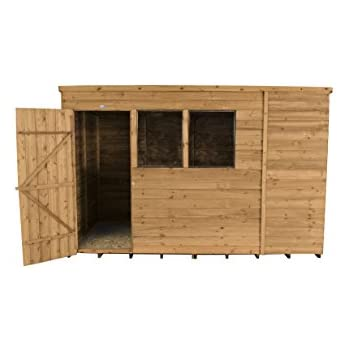 Overlap Wooden Apex Garden Shed Windows Double Doors