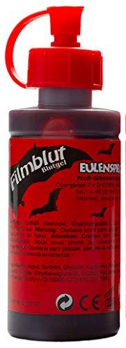 EULENSPIEGEL Profi-Schminkfarben GmbH 405611 Filmblut/Blutgel für Halloween, dunkel, VEGAN, rot
